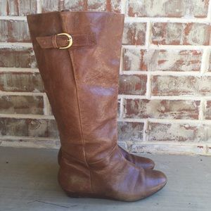 Steve Madden Cognac Leather Intyce Boots 9.5